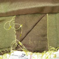 Watersilk Pashmina (Moss Two-tone & Yellow) KK88